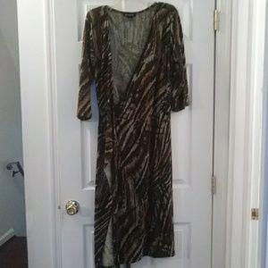 Ashley Stewart Women's multicolored wrap dress
